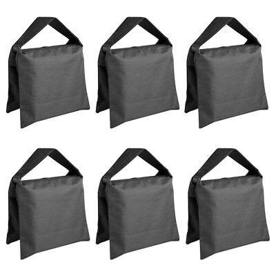 Neewer 6pcs Black Video Stage Sandbag Saddlebag for Light Stands Arms Tripods