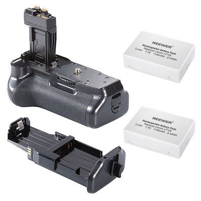 Neewer Battery Grip with 2 Rechargable Li-ion Battery for Canon 550D 600D 650D