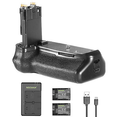 Neewer Battery Grip with 2 Li-ion Batteries and Charger for Canon EOS 70D 80D