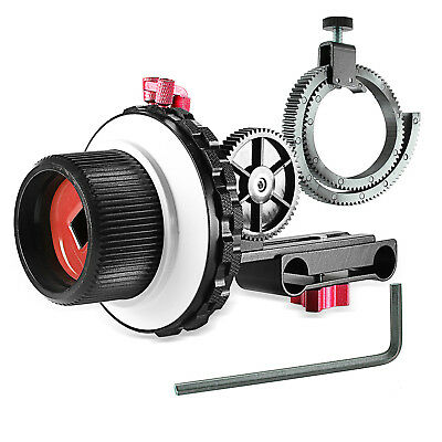 Neewer Red A-B Stop Follow Focus with Gear Ring Belt for Canon Nikon Sony MT@9