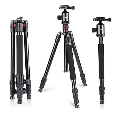 "Neewer Aluminum Alloy 64"" Camera Travel Tripod Monopod with Ball Head MT@9"