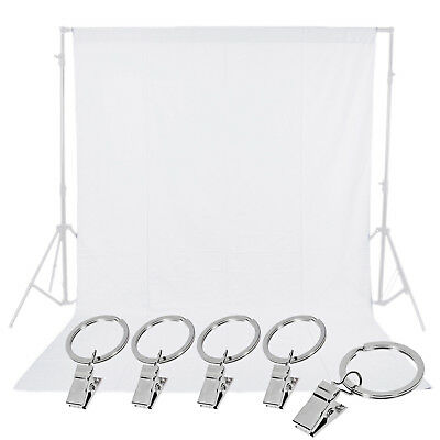 Neewer Photo Studio White 6 x 9FT Backdrop Background with 5pcs Spring Clamps