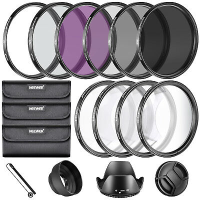 Neewer Photo 67mm Complete Lens Filter Kit ND2 ND4 ND8 UV CPL FLD +1 +2 +4 +10