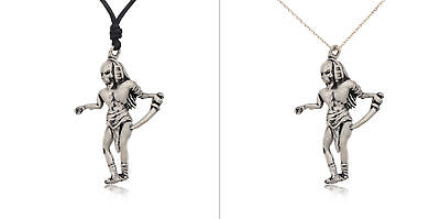 Egyptian Pharaoh Mummy Silver Pewter Charm Necklace Pendant Jewelry