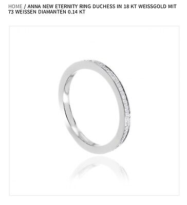 Anna Inspiring Jewellery New Eternity Ring Duchess 18 Kt Weissgold