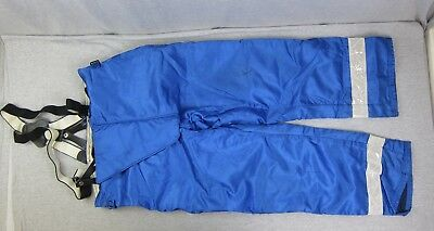 Fire Dex Blue Turn Out Pants w/ Globe Suspenders 36x29 dated 7/98 Fire Fighting