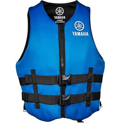 Yamaha Marine New OEM Unisex PFD Neoprene 2 Buckle Life Jacket, Large, Blue