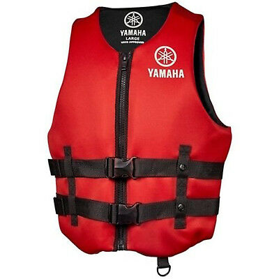 Yamaha Marine New OEM Unisex PFD Neoprene 2 Buckle Life Jacket, 3XL, Red