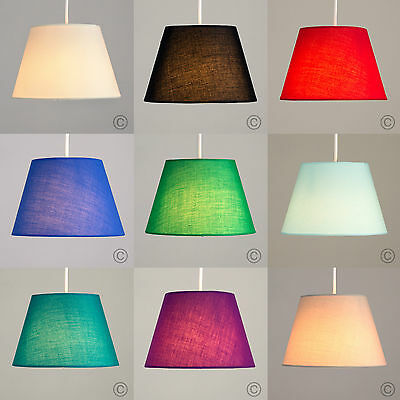 Contemporary Easy Fit Tapered Cotton Ceiling Light Pendant Shade Lounge Lighting