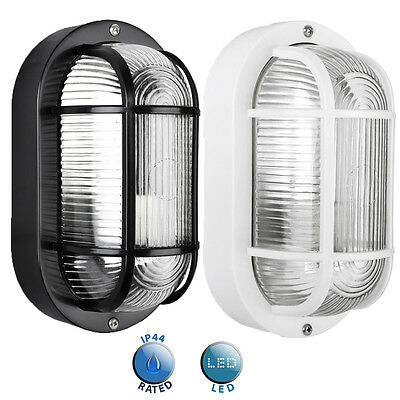 Outdoor Ip44 Bulkhead Bulk Light Black White Garden Outside