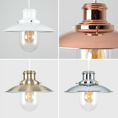 Modern Fisherman Style Ceiling Light Pendant Shades Lights Lamp shades Chrome