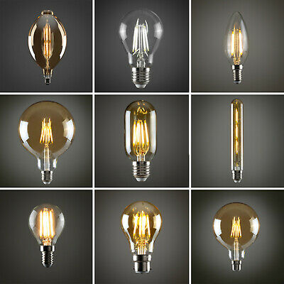Vintage Industrial Filament LED Light Bulb Lamps Bulbs Squirrel Cage Edison A+