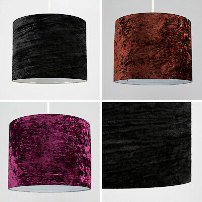 Crushed Velvet Suede Easy Fit Non Electric Ceiling Pendant Light Shade Lampshade