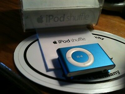 "iPod Shuffle Medalic Blue New w/ Box "" no charger"" MB814LL/A USB 2.0 1GB"