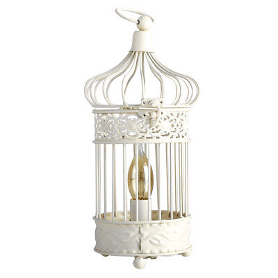 Vintage style cream shabby ornate chic round birdcage table lamp vintage style ivory cream ornate shabby chic bird cage table lamp lantern lamps aloadofball Image collections
