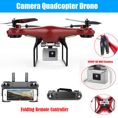 Wide Angle Lens 1080P HD Camera Quadcopter Drone 4K WiFi FPV 2.4GHz 6-Axis 360°