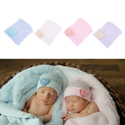 Newborn Baby Infant Girl Cute Toddler Comfy Bowknot Hospital Cap Warm Beanie Hat