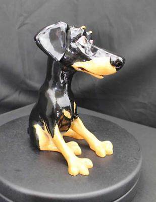 Nelson The Doberman - Comical Figurine - New From Gallery - (20970)