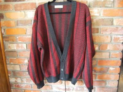 Vintage men's Jantzen, made in USA, size large striped sweater. 3 buttons. GREAT
