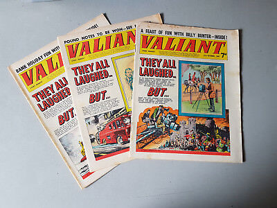 VALIANT COMIC - 3 issues from 1967
