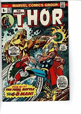Marvel Comics The Mighty Thor # 216 Oct  1973