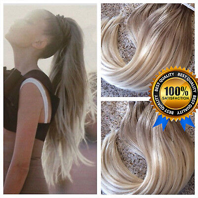7A Thick 40pcs/100g Remy Human Hair Extensions Russian Tape in Skin Weft UK