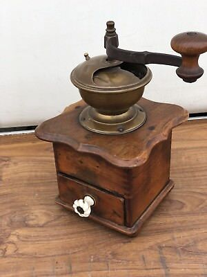 Lovely French Vintage Wooden/metal Coffee/Pepper grinder will
