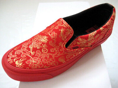OPENING CEREMONY X Vans Vault Slip-On LX Qi Pao Pack Red 5.5-11 ... 4bd239ff6d