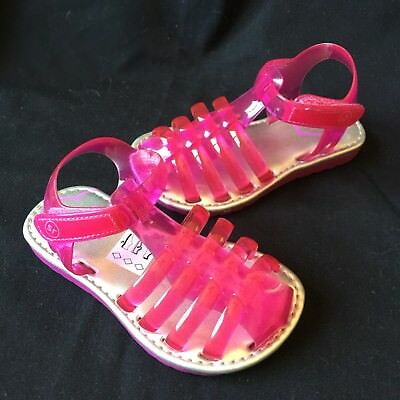 38a9f371068d BABY GIRL STRIDE Rite Pink Jelly Sandals Size 1 0-3 Months New -  22.00