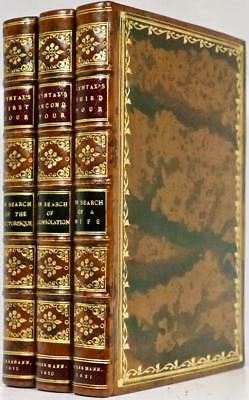 1812-21 1stEd Tour of Doctor Syntax 80 Color Plates Stunning Tree Calf Bindings