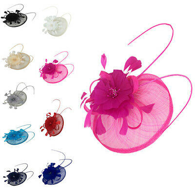 Ladies & Women Royal Ascot Races Wedding Hat Sinamay Fascinator Clip Headband