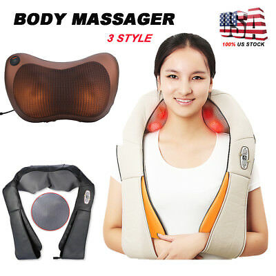 Back&Shoulder Shiatsu Massager Electric Neck Massage Pillow Cushion with Heating