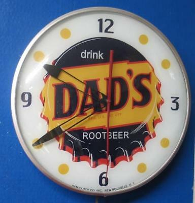Vintage Pam Lighted Advertising DRINK DAD'S ROOT BEER Clock