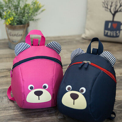 Baby Kids Backpack With Rein Safety Harness Toddler Cartoon Animal Bag Rucksack
