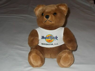 2000 Hard Rock Cafe Bear Plush Washington DC SUPER EXCELLENT Clean