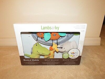 Lambs & Ivy Yoo-Hoo Birds Gator Collection Musical Baby Crib Mobile New Sealed
