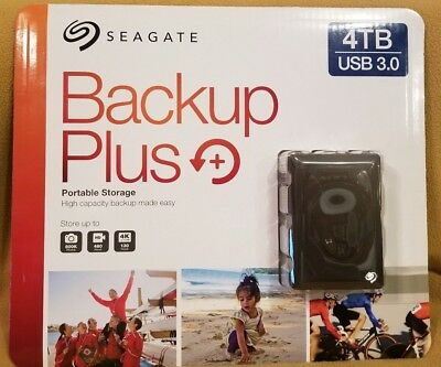 Seagate Backup Plus 4TB Portable Storage High Capacity SEALED FREE SHIP NEW