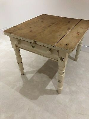 Antique Kitchen/Dining Table, Pine, with Drawer,