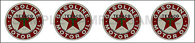 1.25 Inch Texaco Motor Oil Gasoline Decal Sticker 4 Decals