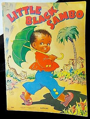 _Black Americana_ Sambo Saalfield Vintage Picture Paper Book 1943 Story Read To