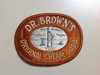 Vintage Dr Browns The Original Cream Soda Cloth Patch 1970s