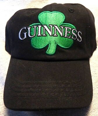 13c6a501fbeea Guinness Baseball Style Golf Hat - Black   Green - Shamrock - St. Patrick s  Day