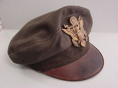 """WWII Bancroft Flighter -"""" 50 Mission Crusher """" Cap - US Army Air Force Hat WW2"""
