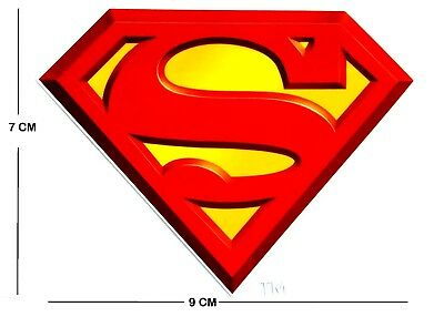 IRON ON, HEAT TRANSFER Superman label for T Shirts, Jumpers, Cardigans