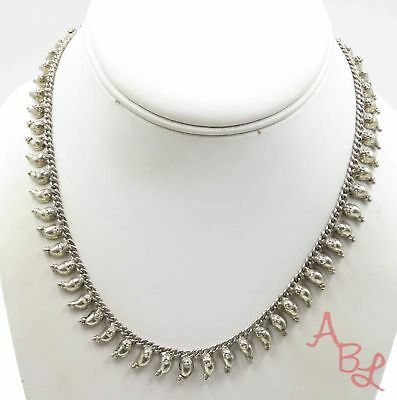 Sterling Silver Vintage 925 Antique Curb Chain Necklace 16'' (31.7g) - 717298