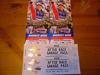 TWO Indianapolis 500 tickets Northeast Vista SEE THREE TURNS! High Up!