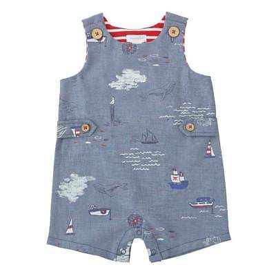 Mud Pie Farmhouse Tractor Chambray Shortall