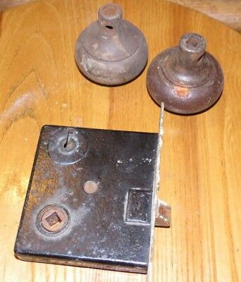 Antique - Vintage Metal Door Lock Set With Knobs