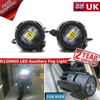2pcs Spot LED Auxiliary Fog Safety Driving Light Motorcycle for BMW R1200GS ET