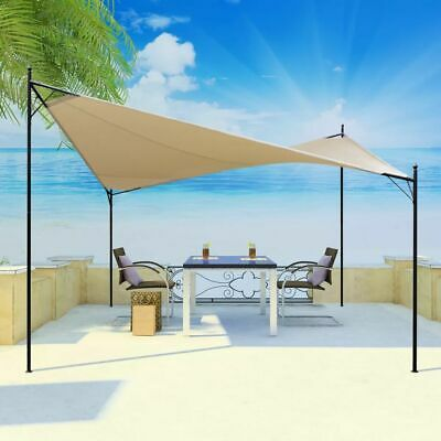 vidaXL Butterfly Gazebo 4x4m Beige Sun Shade Sail Marquee Canopy Outdoor Party